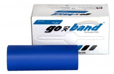 Латексная лента эспандер для фитнеса Go-Band 5,5 м x 12,8 см синяя особо плотная