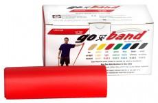 Эластичная безлатексная лента для тренировок Go-Band 5,5 м x 12,8 см красная средней плотности