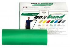 Эластичная безлатексная лента для тренировок Go-Band 5,5 м x 12,8 см зеленая повышенной плотности