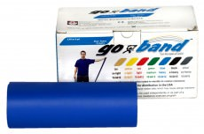Эластичная безлатексная лента для тренировок Go-Band 5,5 м x 12,8 см синяя особо плотная