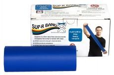 Безлатексная лента эспандер для тренировок Sup-R Band 5,5 м x 12,8 см синяя особо плотная