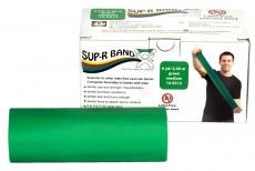 Безлатексная лента эспандер для тренировок Sup-R Band 5,5 м x 12,8 см зеленая повышенной плотности