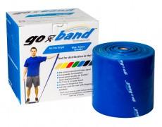 Эластичная безлатексная лента для тренировок Go-Band 45,5 м x 12,8 см синяя особо плотная