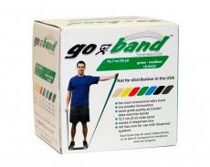 Латексная лента эспандер для фитнеса Go-Band 45,5 м x 12,8 см зеленая повышенной плотности