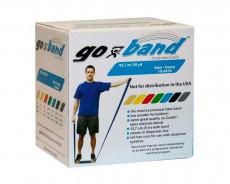 Латексная лента эспандер для фитнеса Go-Band 45,5 м x 12,8 см синяя особо плотная