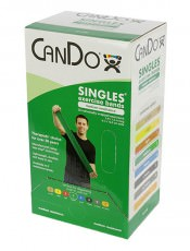 Латексная лента эспандер для фитнеса CanDo 1,5 м x 12,8 см зеленая повышенной плотности