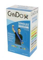 Латексная лента эспандер для фитнеса CanDo 1,5 м x 12,8 см синяя особо плотная
