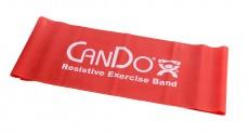 Эластичная безлатексная лента для тренировок CanDo 1,5 м x 12,8 см красная средней плотности