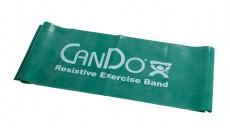 Эластичная безлатексная лента для тренировок CanDo 1,5 м x 12,5 см зеленая повышенной плотности