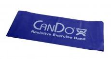 Эластичная безлатексная лента для тренировок CanDo 1,5 м x 12,8 см синяя особо плотная