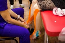Тейпирование голеностопного сустава после перелома
