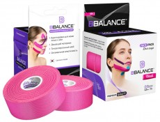 Кинезио тейп для лица BB FACE TAPE™ шелк 2,5см*10м розовый