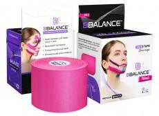 Кинезио тейп для лица BB FACE TAPE™ шелк 5см*5м розовый