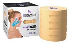 Тейп для лица с перфорацией BB LYMPH FACE™ 7,5см*5м бежевый