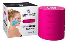 Тейп для лица с перфорацией BB LYMPH FACE™ 7,5см*5м розовый