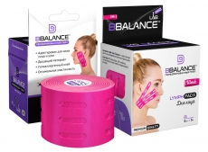 Тейп для лица с перфорацией BB LYMPH FACE™ шелк 5см*5м розовый