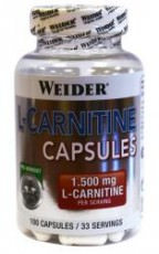 Л-Карнитин Weider L-Carnitine Capsules 100 капсул