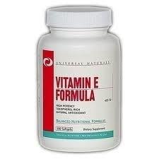 Витамины Universal Nutrition Vitamin E Formula 100 капсул