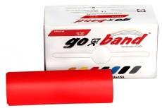 Латексная лента эспандер для фитнеса Go-Band 5,5 м x 12,8 см красная средней плотности