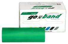 Латексная лента эспандер для фитнеса Go-Band 5,5 м x 12,8 см зеленая повышенной плотности